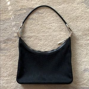 Vintage Gucci black shoulder bag